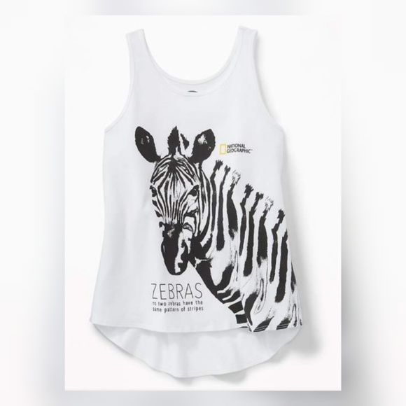 631219e43bc1c Girls National Geographic Zebra Tank Top 🦓. NWT. Old Navy